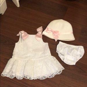 Janie & Jack dress & hat set